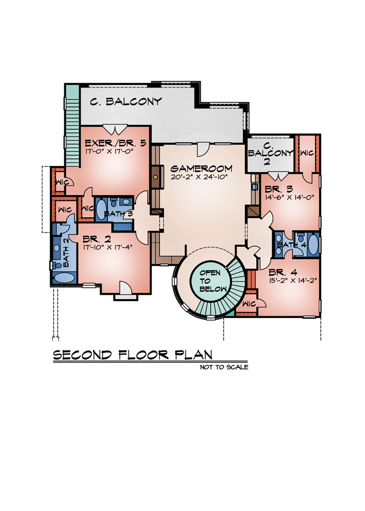 Second Floor Plan image of Featured House Plan: BHG - 9014